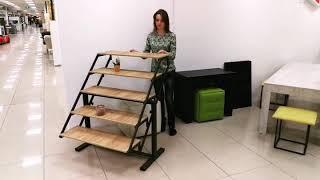 Стол стеллаж трансформер, Swing, мебель трансформер для смарт квартир, смарт мебель Киев