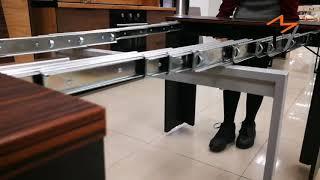 Стол консоль трансформер, смарт мебель для квартиры. Раскладной стол для кухни