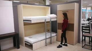 Детская смарт кровать, двухъярусная - кровать трансформер. Смарт мебель для квартиры на заказ, Киев