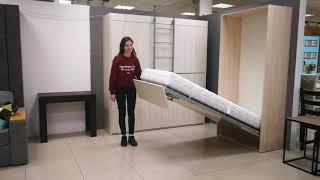 Компактная кровать не занимает много места. Кровать трансформер. Мебель трансформер на заказ в Киеве